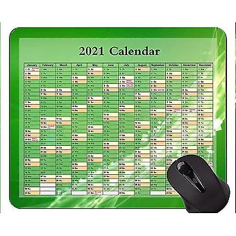 Keyboard mouse wrist rests 260x210x3 calendar for 2021 years unique custom mouse pad mousepad green vitality mouse pads