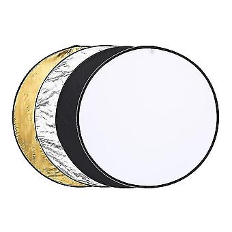 Camera accessory sets leshp 110cm 5-in-1 collapsible multi-disc light reflector translucent silver golden white and black