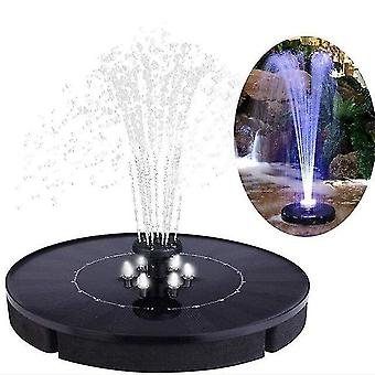 Fountain pond accessories 18cm solar fountain led solar water fountain with led lights for outdoor landscape