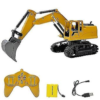 Robotic toys 1:24 8 channel rc truck excavator alloy backhoes bulldozer remote control digger engineering vehicle