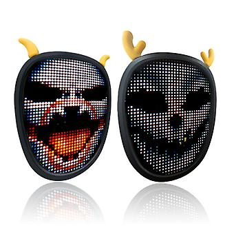 Hywell Halloween And Christmas Led Glowing Mask, 1 Piece, Party Mask, Carnival Party, Illuminator