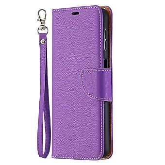 Futerał na Samsung Galaxy A32 4g Litchi Flip Wallet Cover Tpu Magnetic Violet