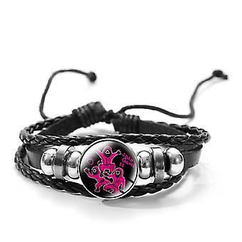 Korean Drama Time Gem Adjustable Leather Bracelet Bracelet