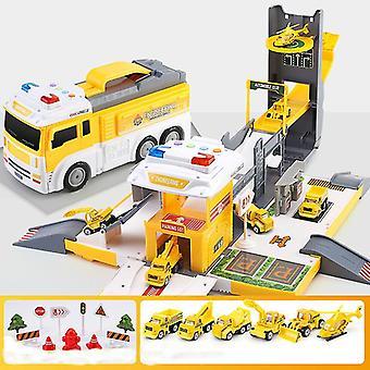 Rail Car transformabil container camion parcare Parcarea jucărie car Boy camion de foc auto de poliție auto auto copil