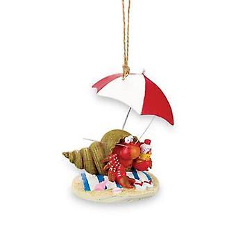 Beachy eremittkreps Christmas ferie Ornament