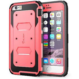 i-Blason-iphone 6 plus, série Armorbox double couche cas de Protection complet du corps avec écran protecteur-Rose