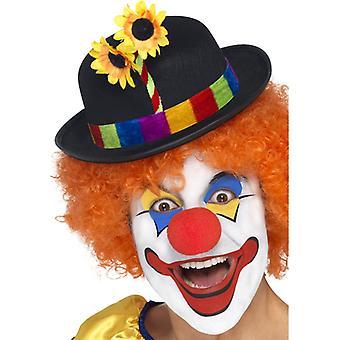 Clownhut melon felt colorful clown Hat clown Cap Hat Colwnskostüm