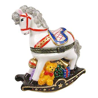 Kids Nursery Rocking Horse Hinged Trinket Box phb