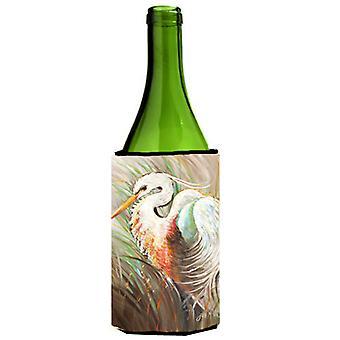 Garza blanca botella de vino bebidas aislador Hugger