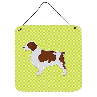 لوح شطرنج الويلزية سبرينغر الكلب الأخضر الجدار أو الباب معلقة يطبع