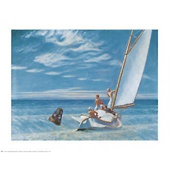 Jorden svulme plakat Print af Edward Hopper (30 x 24)
