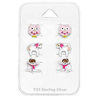 الوردي - 925 مجموعات الفضة الاسترليني - W28470x