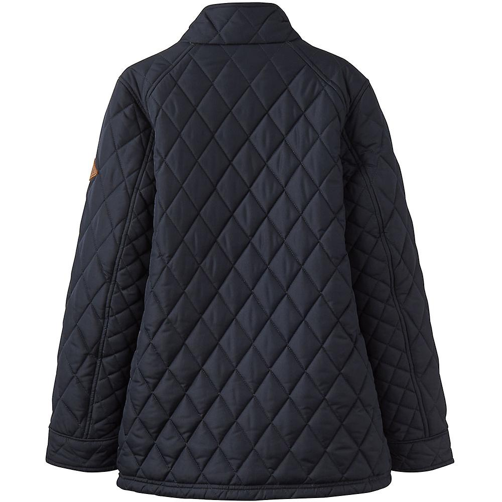 Joules Boys Stafford Classic Quilted Full Zip Biker-Style Jacket Coat
