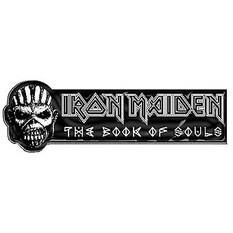 Iron Maiden Pin Badge Book Of Souls Eddie Band Logo new Official Metal Lapel