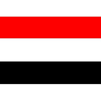 Jemenin lippu 5 jalkaa x 3 ft jossa ripustamista varten