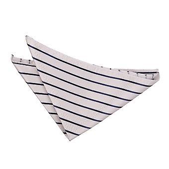 Silber & Marine Single Stripe Einstecktuch