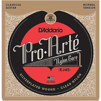 Cuerdas de guitarra clásica de Nylon de D Addario EJ45 Pro-Arte