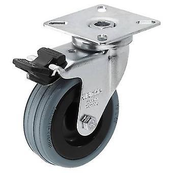 Monacor GCB-75B draaibaar wiel 1 PC (s) 75 mm draagvermogen (max.): 60 kg