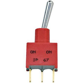 TE Connectivity 3-1825142-1 Toggle switch 250 V AC 2 A 1 x On/Off/On latch 1 pc(s)