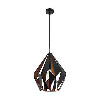 EGLO Carlton геометрические черный и медь деревенском кулон лампа