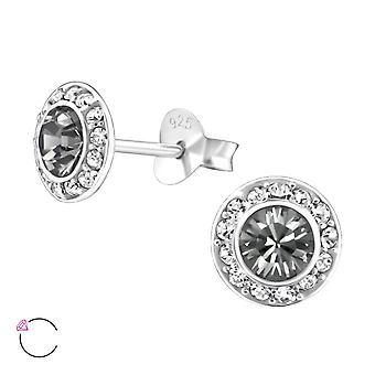 Круглые хрустальные от Swarovski® - 925 стерлингового серебра уха шпильки - W24380x