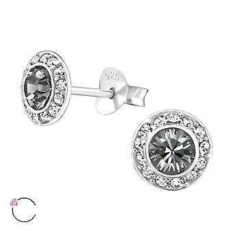 Round Crystal From Swarovski® - 925 Sterling Silver Ear Studs - W24380x
