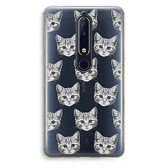 Nokia 6 (2018) Transparent fodral (Soft) - kattunge