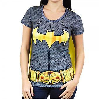 Batman mujer Batman superhéroe traje T camisa con cabo negro