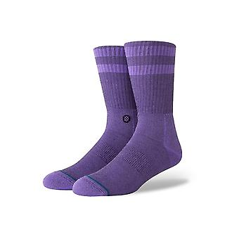 Stance Joven Crew Socks in Neon Purple