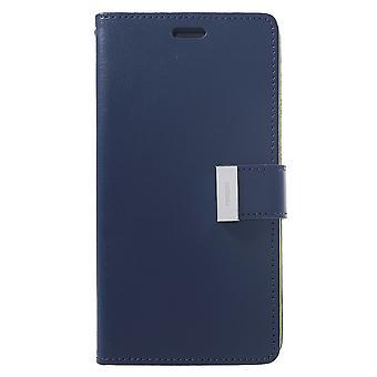 Mercury GOOSPERY Rich Diary for iPhone XR-Dark Blue