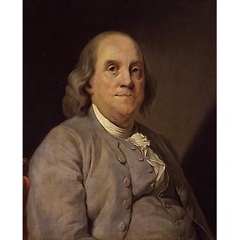 Portræt af Benjamin frankli, Joseph-Siffred Duplessis, 50x40cm