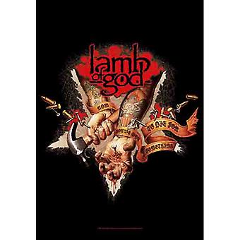 Lamb Of God - Nail Hands -Flag