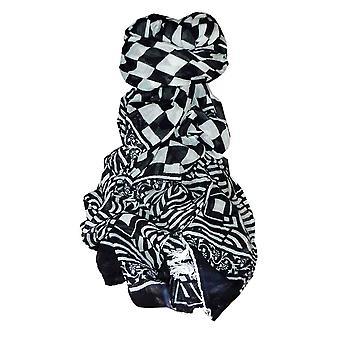 Dupatta Карнатака саронг шарф черный & белый, пашмины & шелка