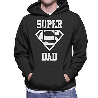 Super Dad Superman Logo Men's Hooded Sweatshirt