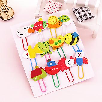 TRIXES Novelty Cartoon Paperclips Bookmarks 12 Pack
