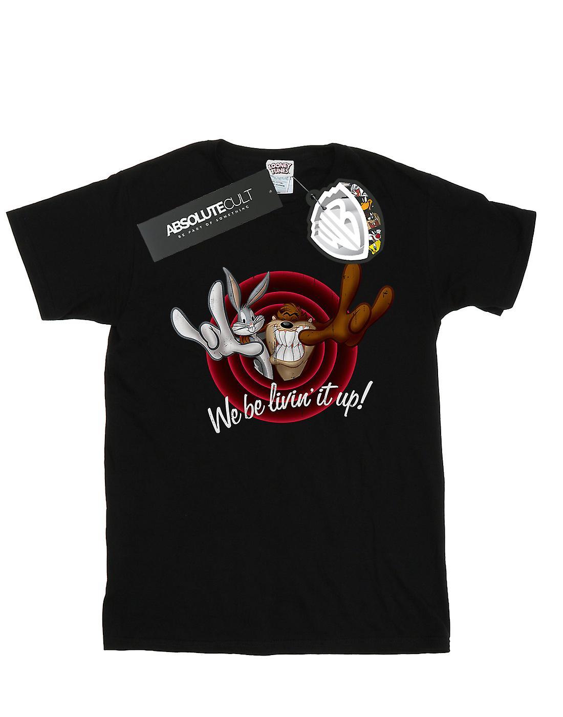 Looney Tunes Women's Livin' It Up Boyfriend Fit T-Shirt