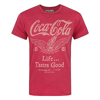 Junk Food Coca Cola Life Tastes Good Men's T-Shirt Red
