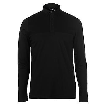 Firetrap Mens Ripple Long Sleeve Polo Shirt T-Shirt T Tee Top