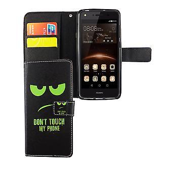 Älä koske minun puhelimen kännykkäkotelo Huawei Y5 II taitto tapauksessa lompakon tapaus