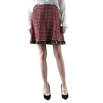 Boutique Moschino Ezbc170010 Women's Red Wool Skirt