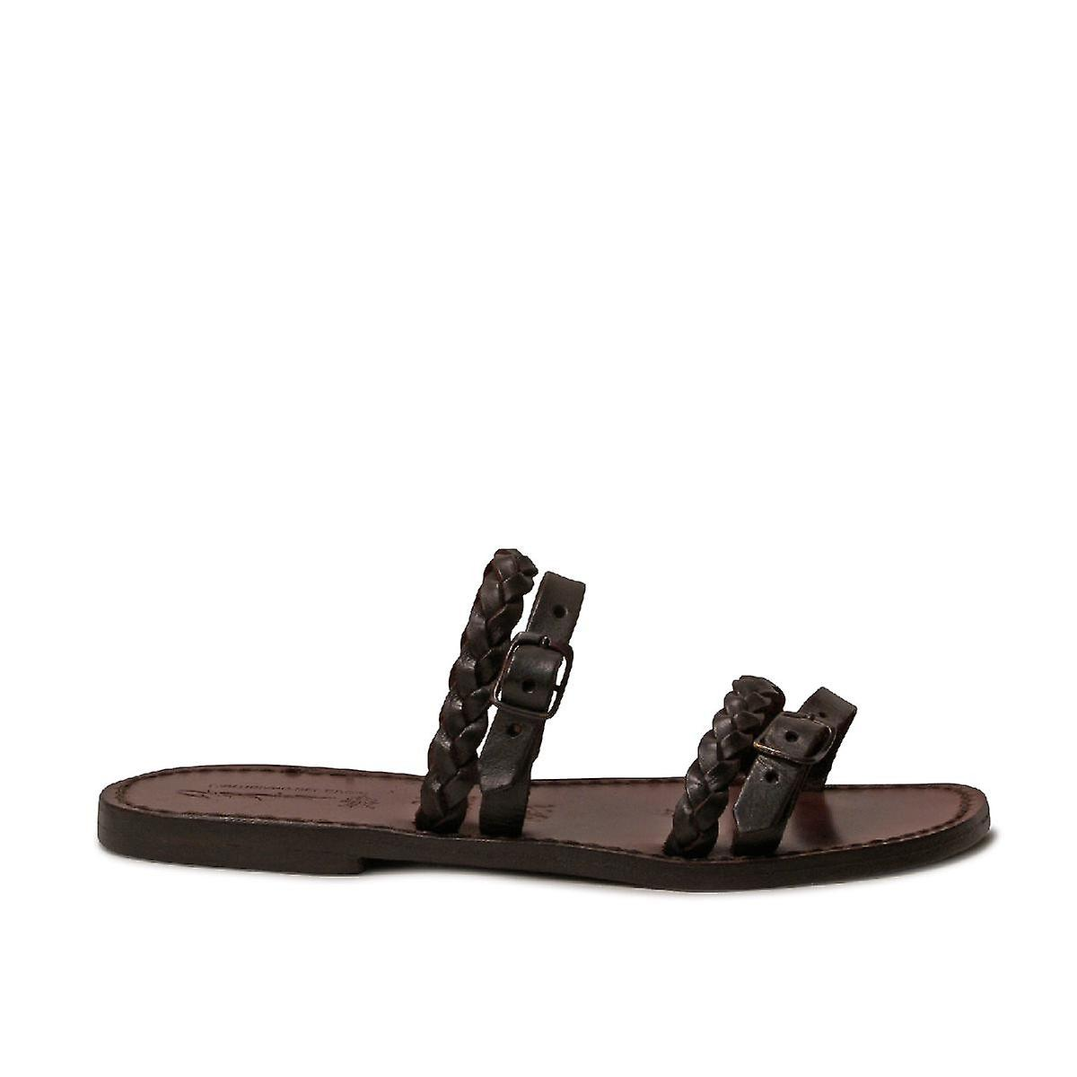 Gianluca - L-apos;artigiano Del Cuoio 1275sandbrown Women-apos;s Brown Leather Sandals onGU8b