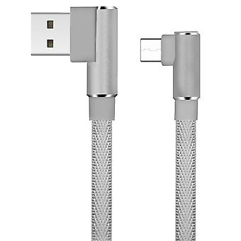 LinQ USB Cable Type C to USB Angled Charge & Sync 3A Copper 1.2m - Grey