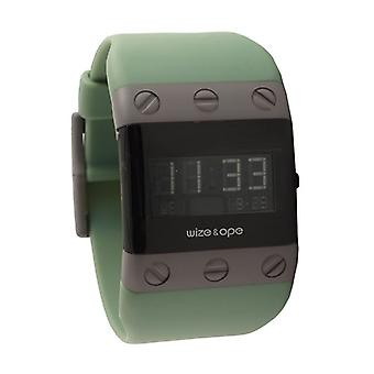 Wize and Ope Willys  Green Digital  Watch WO-WIL-1