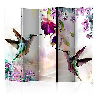Vouwscherm - Hummingbirds and Flowers II [Room Dividers]