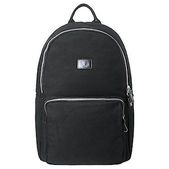 Fred Perry Heavy Canvas Backpack Rucksack Bag - L3217-102 - Black