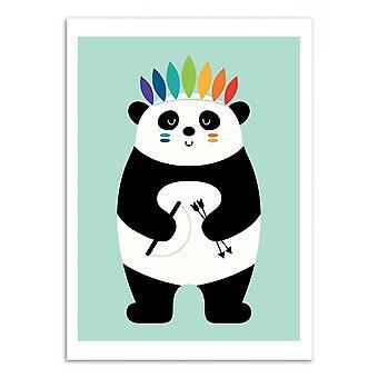 Taidejuliste - Intian panda - Andy Westface