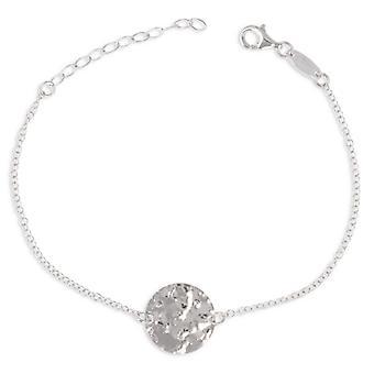 Bracelet Argent Rhodié Martelé 16cm + 3cm