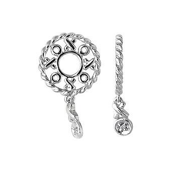 Storywheels Silver & Diamond Hug ja Kisses Dangle Charm S111D