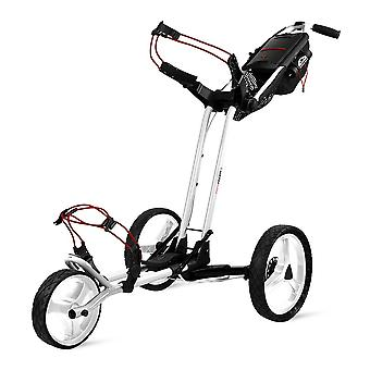 Sun Mountain Pathfinder 3 Wheel Push Golf Trolley Cart Weiß