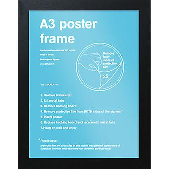 Eton marco negro A3 cartel / impresión marco